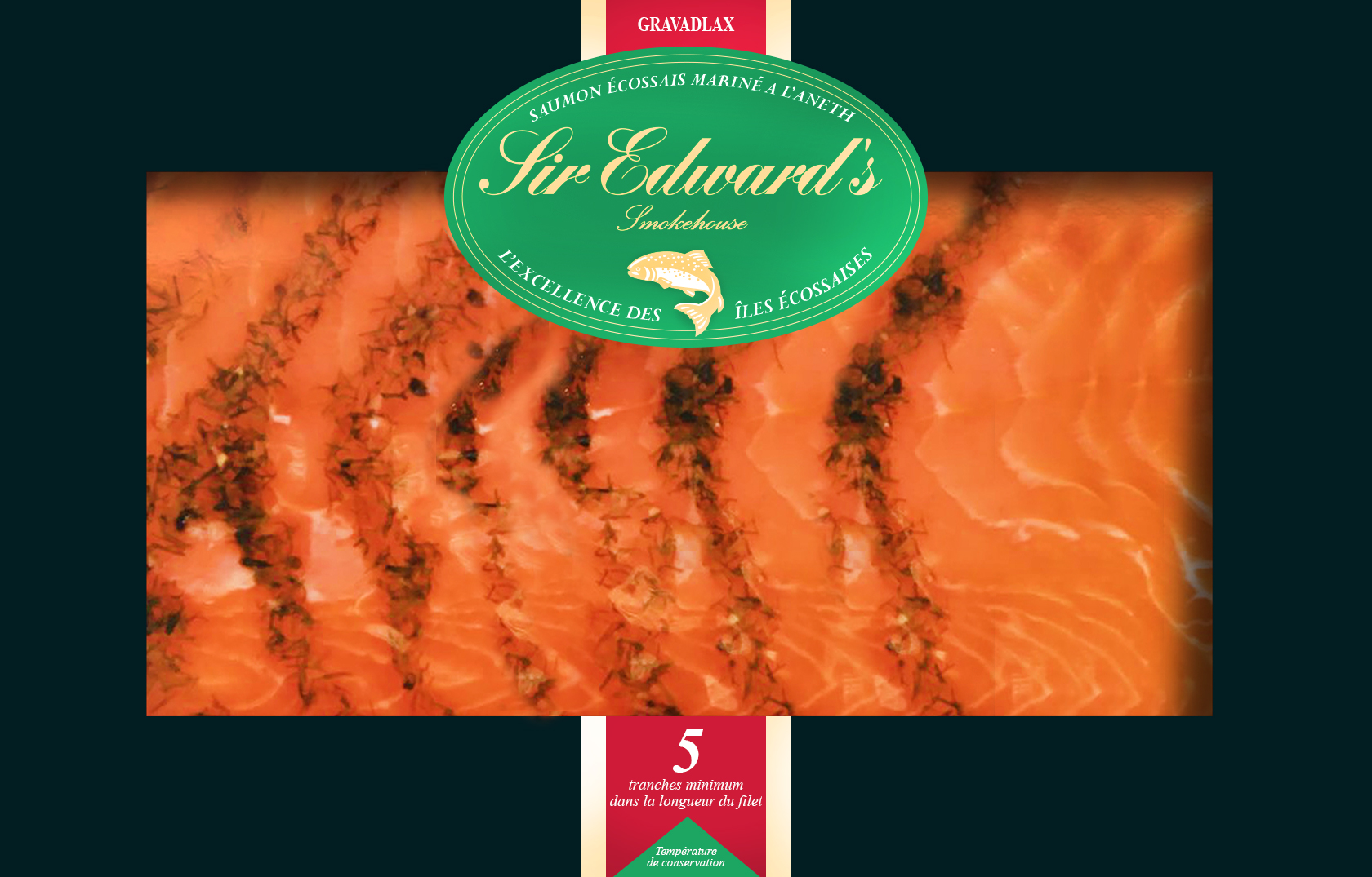 saumon fume a l'aneth