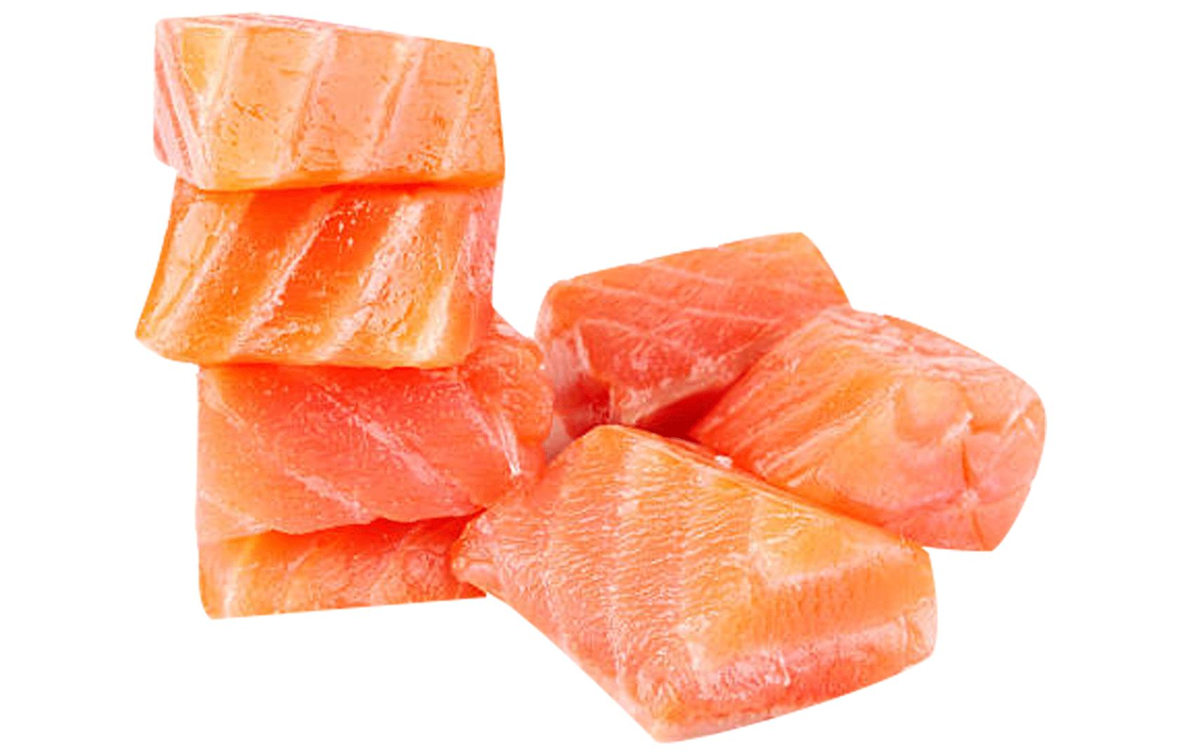 saumon fumé en dés